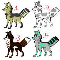 Dog Adopts :OPEN: 3/4 (Reduced Prices) by FlyCatty-Adopts