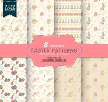 8 Cute Pastel Patterns for Spring and Easter by fiftyfivepixels