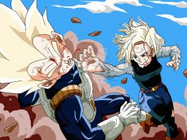 Vegeta and C18 by Sersiso