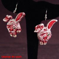 R E Undead Bunny earrings by Undead-Art
