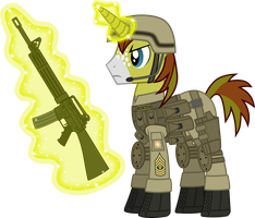 First Sergeant Allen Sparkle (in profile) by DolphinFox