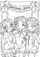 Christmas 2004 - inks by KeyshaKitty