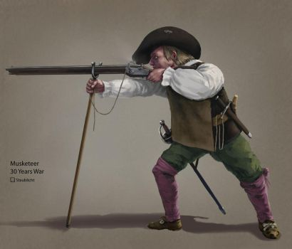 Musketeer in 30 Years War by Staublicht