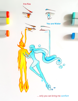 +I am Fire, You are Water+ by larienne