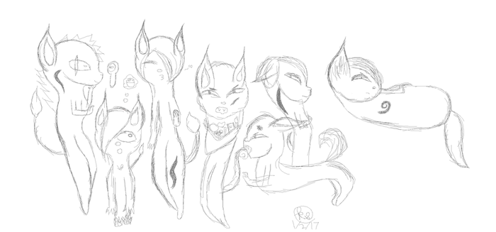The Seven Deadly Sins (Sketch) by thefiretailedweasel