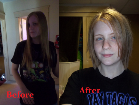 New Hair: Before and After by moonglowsakura