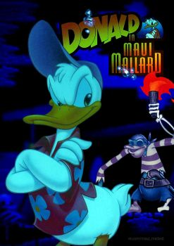 Donald in Maui Mallard poster (2nd version) by nasikan