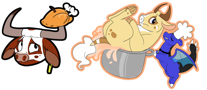 Thanksgiving Stickers 5, 6 by CottonConfection
