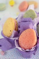 Easter Egg Macarons by cakecrumbs