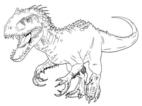 indominus rex jurassic world coloring pages - photo #7