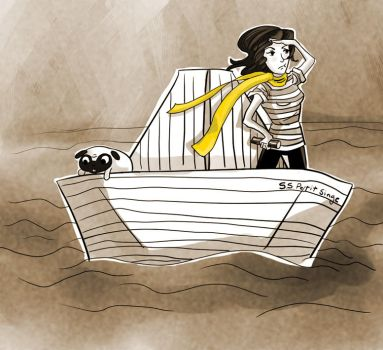 The Paper Boat Sailor by coconutpug
