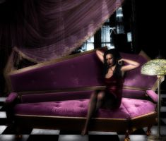 The Purple Couch by cocoaberi