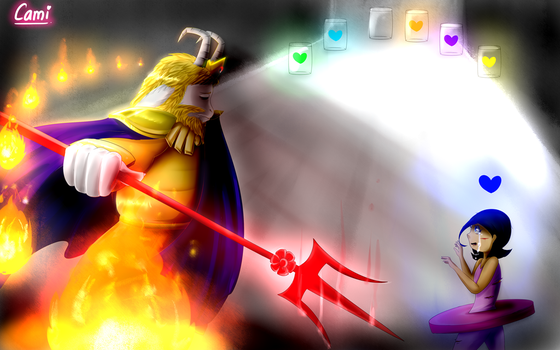 Asgore from Glitchtale by CamilaAnims