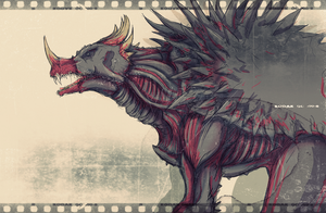 Shin Anguirus by Arrancarfighter