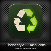 iPhone style - Trash icons by YaroManzarek