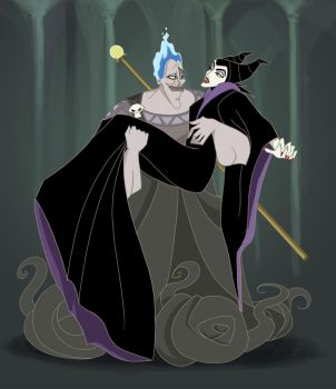 Hades and Maleficent by Precia-T