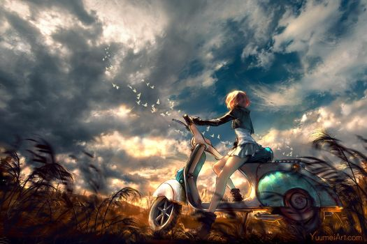 Take in the Sky by yuumei