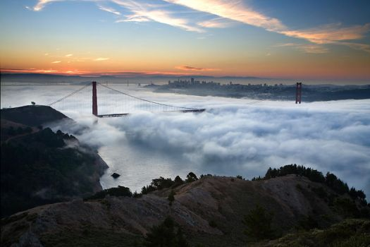 Golden Gate Sunrise 10000 by themobius