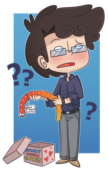 Commish: Bruce gummy worm by ecokitty