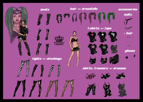 CYBERGOTH Dress-up Dollie by ElectronicRainbow