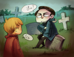 Excuse me, you're sitting on my grave. by Lis-Alis