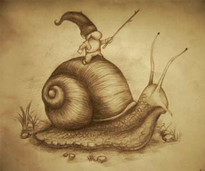 Snail Rider by diegofonseca
