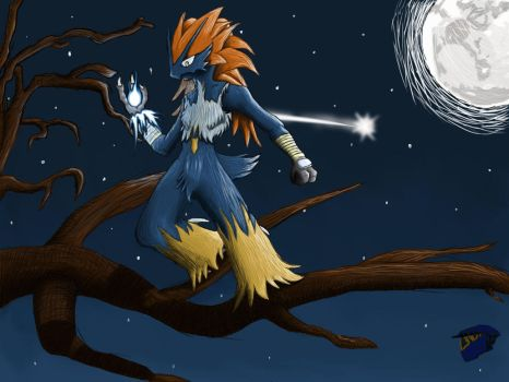 Nochteur the Blaziken Tree Hopping (Final) by AngryCab00se