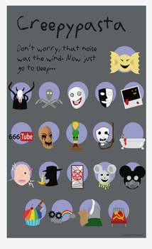Creepypasta Icons by WolfDeityProductions