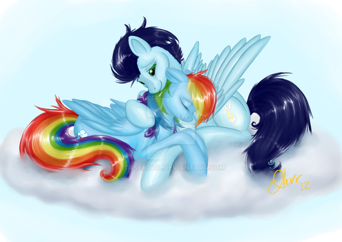 Rainbow Soarin - Commission by tasertail