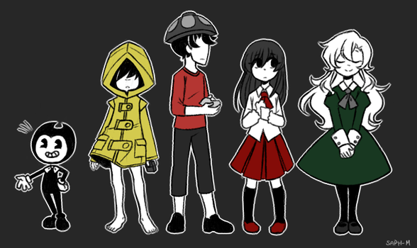 Some Horror games by Sapphire-M