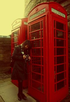 the red telephone box by glam-our