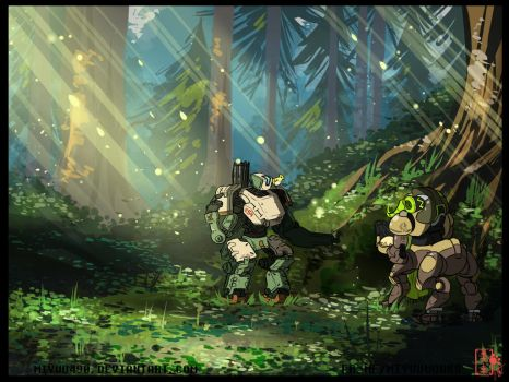 Knowing the nature with Bastion and Orisa p.1 by miyuu490