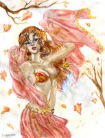Autumnal dance by LadyDeddelit