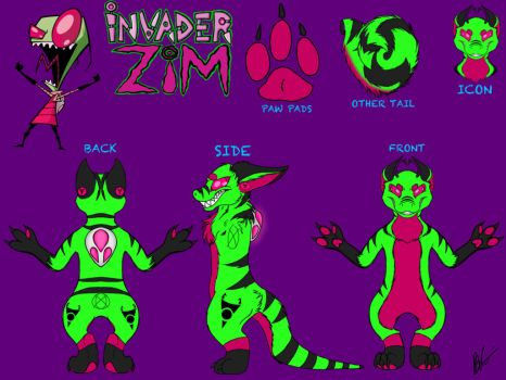 Invader Zim Fursuit Reference Sheet by puppykittons