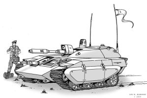 Cortes Light Tank by Artraccoon