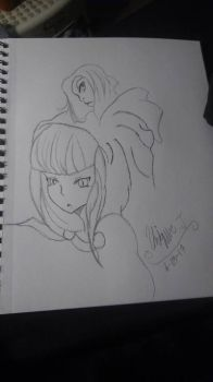 Raven and Cerice (idk if i spelled her name right) by UniMetal46