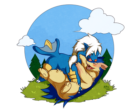 [Commission] - Rio and Ignatius by LazyAmphy