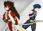 Bishie of the Month - Chrom and Ryoma by snowcloud8