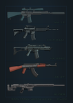 Existing rifles icons (vector) by FanOfTill