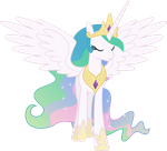Princess Celestia Walking Away by 90Sigma