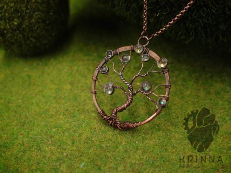 copper wire wrap tree by Krinna