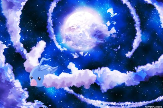 Swablu night flight by animeninjayaya