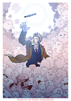 Tenth Doctor v Adipose by Frederic-Mur