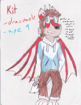 Kit the Dracowolf official ref (edit: color info) by Kit-The-Wolfy
