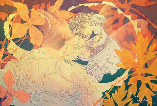 Thumbelina and Flower Prince 2 by palnk