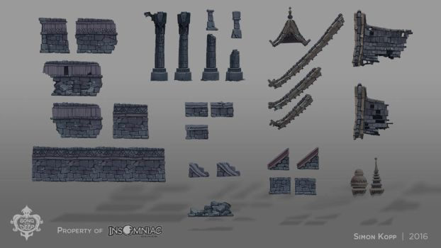 Song of the Deep - Ruins Wall Assets by acapulc0