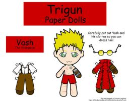 Vash paper doll by Malindachan