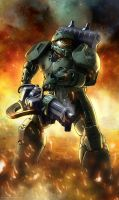 Spartan (WH40k style John-117) by TheMaestroNoob