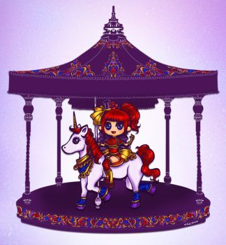 Carousel Candy Apple by Ainiwaffles