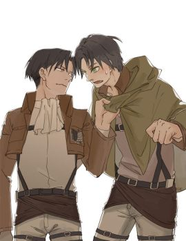 Rivaille and Eren by IC-ICO